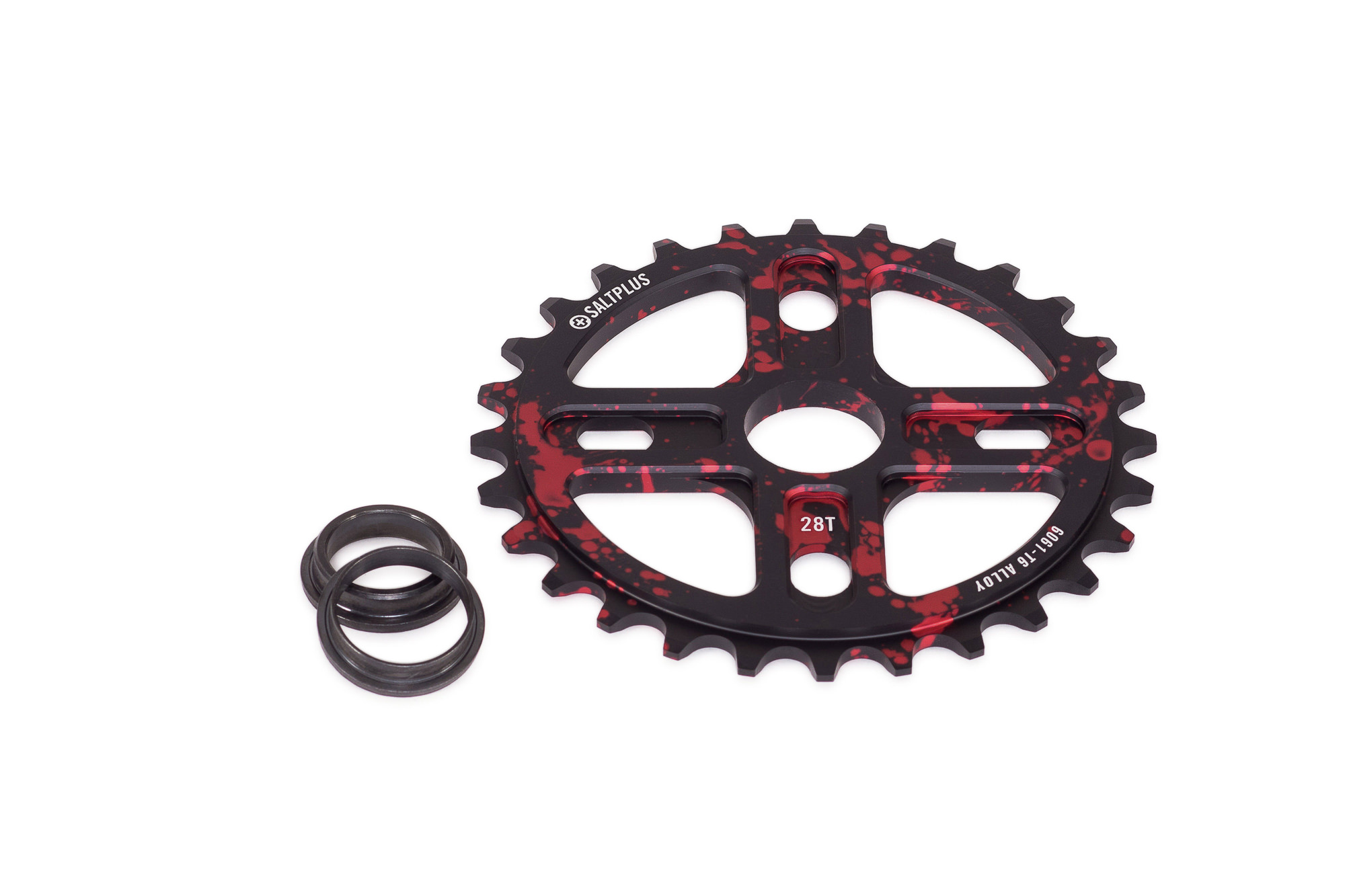 SaltPlus_Manta_sprocket_28t_black_red_splatter_02